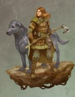 Woodwoman of Mirkwood by JonHodgson