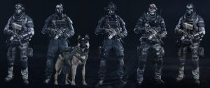 Call Of Duty Ghost Characters by TheGrzebolable