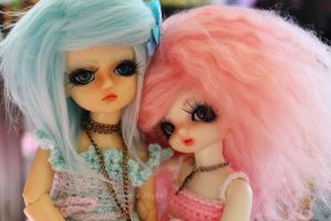 Cotton Candy Pink and baby Blue sweets by Kyanara