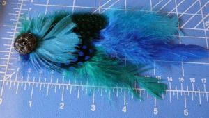 Green Swish Feather Hair Bobby by Eliea
