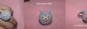 Pastel Alpaca Ring Accessory by lkcrafts