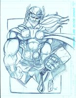 Con Sketch Thor by JazzRy