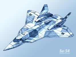 Sukhoi Su-54-4 pencil by TheXHS