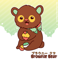 Brownie the Bear by shiropanda