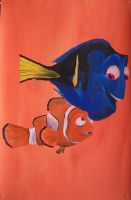 Marlin and Dory by billywallwork525
