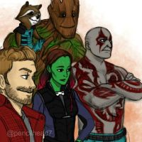 Your Guardians of the Galaxy by pencilHeadno7