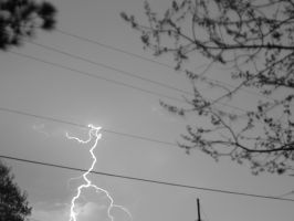 lightning black and white by TheUnknown860