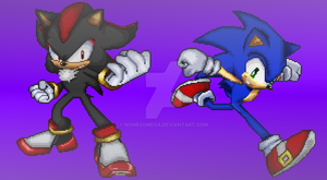 Sonic and Shadow In SSF2 Style(CorrectingMistakes) by NSMBXomega