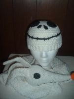 Jack Skellington hat and Zero scarf by Nanettew9