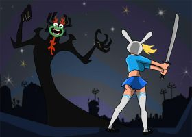 Fionna v Aku by richardnixon1968