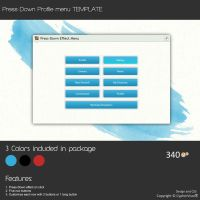 Press-Down Effect Profile Menu - Template by CypherVisor