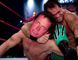 Michael J. Fox VS Chris Benoit by mapacheanepicstory