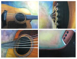 Guitar Quadriptych by WeirdChenDA