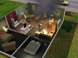 SIMS 3: Fire! 2 by Aubergine-Jeri