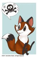Potty Mouth Fox by keevs