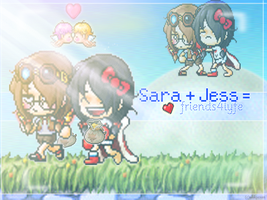 {sara + jess = friends4lyfe} by Inuite