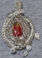 Silver Wrapped Pendant by cakhost