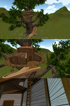Lowpoly 3D fantasy tree house by BatzStudio