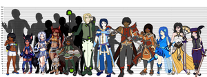 [Character] Height Reference by Voleno
