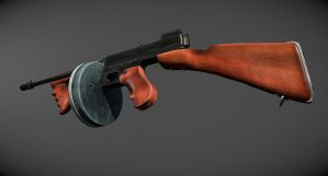 Thompson Model 1928 Final 5 by Furious-Midget