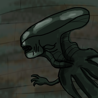 Alien Xenomorph Inspired Drawing by CokeGaming