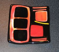 Fused Glass Dish by PonderosaPower
