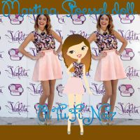 Martina Stoessel doll by PiTuFiNa7