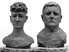 Heads bust sculpture by elicenia