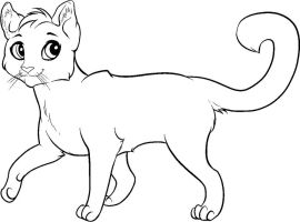 Free Feline Lineart by Sapphira-Page