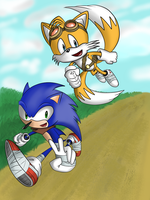 Sonic Boom Sonic and Tails by Explodering