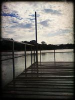 Rain on Dock by LokiDeviation78
