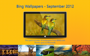 Bing Wallpapers - September 2012 by Misaki2009