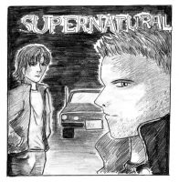 Sam and Dean by Kaze-Chan