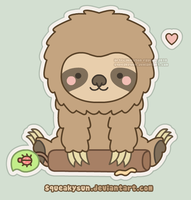 Fluffy Sloth by SqueakyToybox