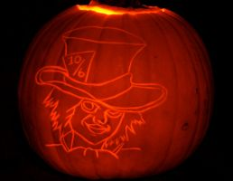 The Mad Hatter Pumpkin by comicalclare