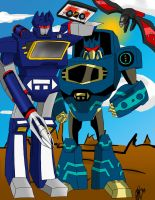 G1 and TFA Soundwave by DeviantDolphinART