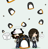 Gift: Falling Penguins by Adimpleo