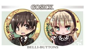Commission - Gosick buttons by jinyjin