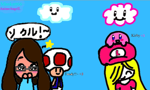 Kirby and Toady by AnimeAngelL