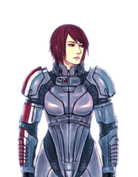 Commander Shepard by minijuuku