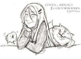 Ginny Arnold and Crookshanks by lberghol