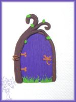 Dragonfly Faerie Door by Marjolijn-Ashara