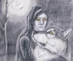 The Hood and the Wolf by punxnotdead309