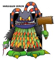 Lil' Harlequin Demon by 5chmee