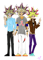 Muto's three bros...O//_//O by WDSlyugi