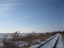 Railway under snow1 by Linden-Oak