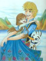 Anna and Kristoff by Charming-Manatee