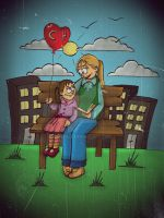 mother and daughter by mesale