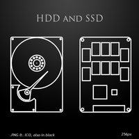 HDD and SSD icons by duckne55