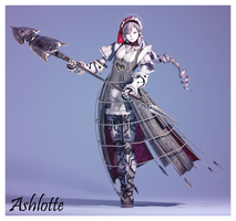 Soul Calibur IV - Ashlotte by SabishikuKage